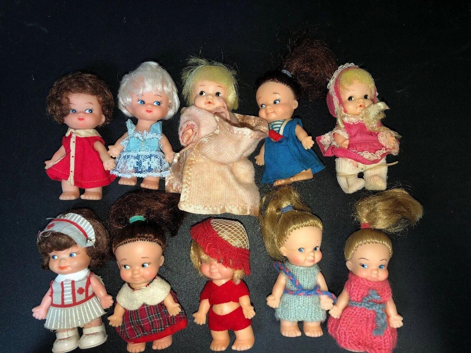 Lote de 10 Muñecos Uneeda 1965 Pee Wee incluso Enfermera Y Pijama Con Manta