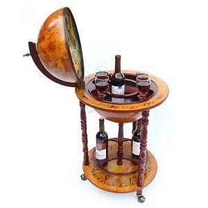 FoxHunter-Globe-Forma-Minibar-Armario-Para-Bebidas-Estilo-Retro-Carrito-Botellas