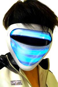 Details about Futuristic RAVE Mask / Light Up Mask MGNTIC BLUE - LED Mask  DJ Mask Dancer Mask