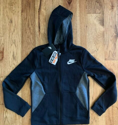 Nike Boys Club Full Zip Hoodie Sweatshirt size S L