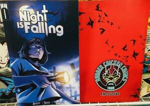 NIGHT-IS-FALLING-1-Rubber-Chicken-Comics-Exclusive-1st-issue-NM-Free-ship