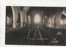 Interior Leigh Church Essex Vintage RP Postcard 355b