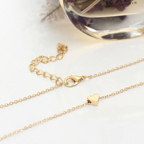 Fashion Women Love Heart Pendant Gold Chain Choker Necklace Lover Jewelry Gift