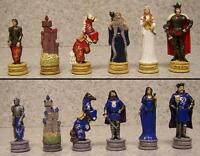 Chess Set Pieces Medieval Europe King Arthur Vs Mordred 3 1/4 Kings
