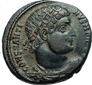CONSTANTINE-I-the-GREAT-330AD-Authentic-Ancient-Roman-Coin-w-SOLDIERS-i66006