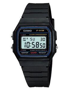 Casio Watch * F91W-1 Classic Black Resin Square Digital Ivanandsophia COD PayPal