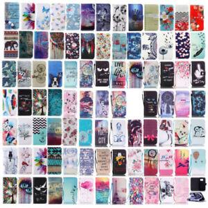 For-iPhone-7-8-Plus-5s-se-wallet-phone-case-elephant-owl-cover-Dreamcatcher-flip