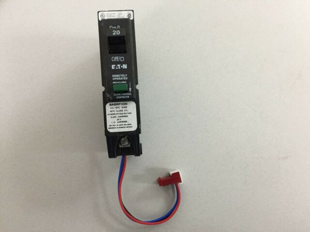 Eaton Cutler-Hammer 20 Amp 1 Pole BABRP1020 Remotely Operated Circuit Breaker