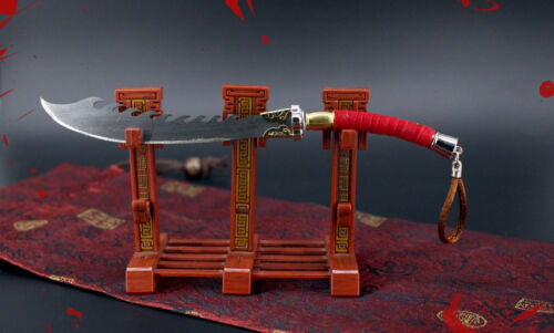 1//6 1:6 Han jian  total war China broadsword heavy sword metal 17cm 月轮弯刀
