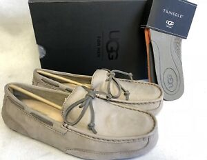 99f18fa9fd5 Details about Ugg Australia Chester Primer Grey Driving Loafers Moccasins  Slippers 1009521