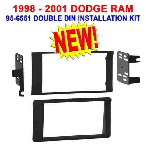 98 99 00 01 DODGE RAM CAR STEREO RADIO DOUBLE DIN INSTALLATION DASH KIT HARNESS