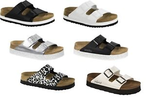 c3b3f7be7c3e Image is loading PAPILLIO-BIRKENSTOCK-ARIZONA-PLATEAU-BLACK-WHITE-PLATFORMS- SANDALS-