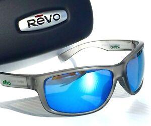 8ee51e23d9d NEW  REVO Baseliner Matte GREY POLARIZED Blue Water ANGLER Sunglass ...