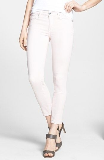 Genetic Jeans The Brooke Skinny Crop Midrise Powder  205 Stretch Cotton NWT 27