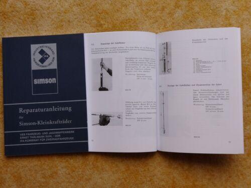Istruzioni di riparazione Simson CICLOMOTORI s50 kr51 SR 4-NUOVO