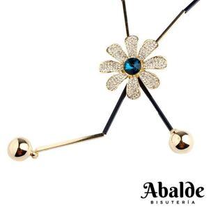 Collar-Colgante-Mujer-Diseno-Flor-Bijoux-Joya-Tendencia-Regalo-Dia-de-la-Madre