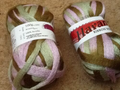 Havana Ribbon web yarn by V/&A products 100g//30 metres £2.50 each ball of yarn