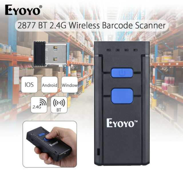 Mini Portable Wireless BTOOTH Barcode Laser Scanner for iOS Android Win SY