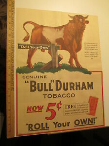 newspaper-ad-1931-BULL-DURHAM-tobacco-cigarette-roll-your-own-white-AW-full