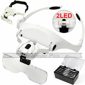 Head-Magnifier-with-2-LED-Lights-Magnifying-glass-hands-free-LED-Lamp-Headband