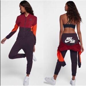 Ropa Deportiva Nike Air Para Mujer Mono Borgoña Rojo Naranja ...