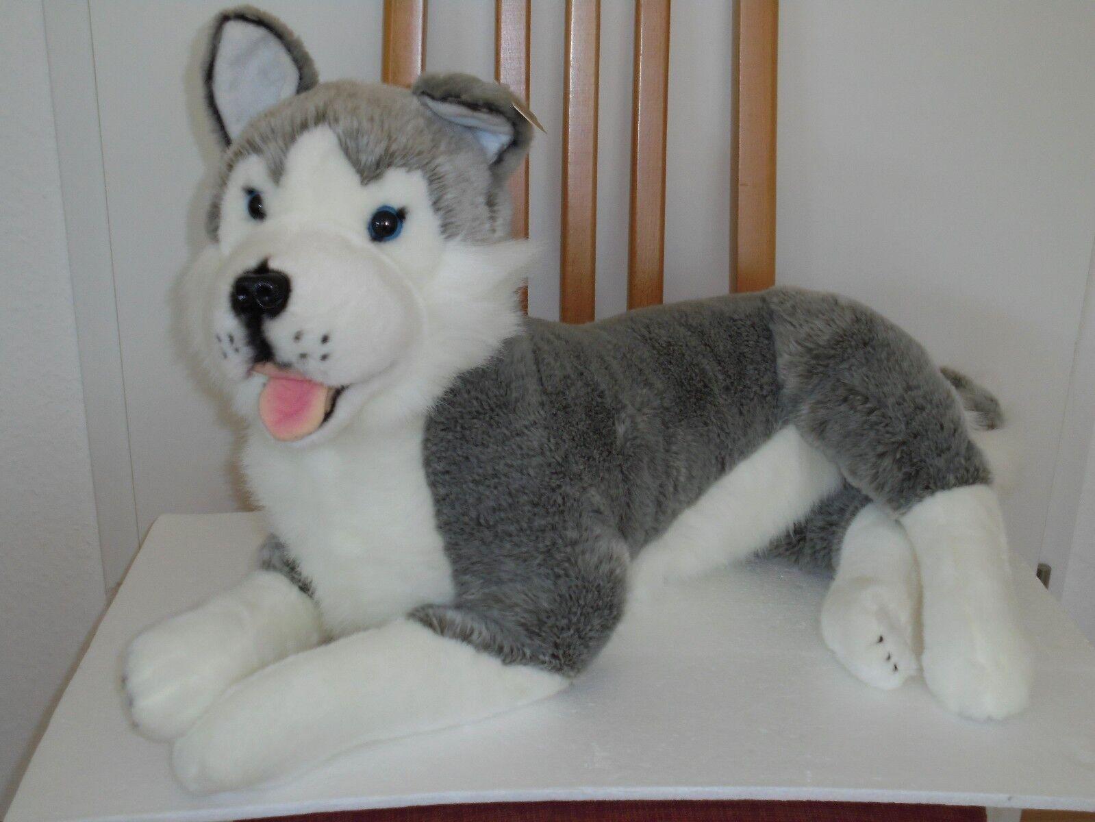 Plüschtier Stofftier Stofftier Stofftier Hund liegend Carl Dick Collection NEU 081d94