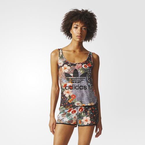 17f3210314f3 adidas Originals Womens X Farm Jardim Agharta Tank Top 8 Floral T-shirt for  sale online