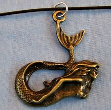 ANTIQUED_BRONZE_PLATED ~~ MERMAID ~  NECKLACE --- (GREAT_GIFT)