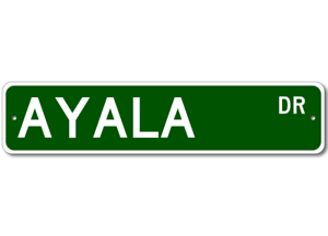 Personalized Last Name Sign AYALA Street Sign
