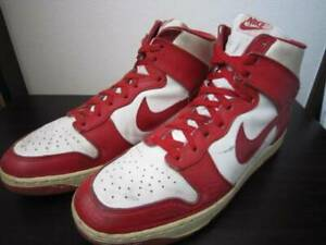Details about Vintage 1985 Nike Dunk High Sneakers Original Red × White US 12 30.0cm Rare
