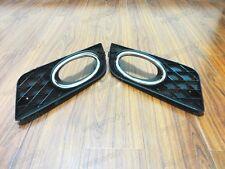 1Pair Front Bumper Fog Light Bezel Trim Inserts For Honda Civic 2012-2013