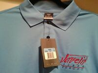 Men's Nike Blue Golf Shirt Size M Medium Fire & Forget Javelin Dri Fit