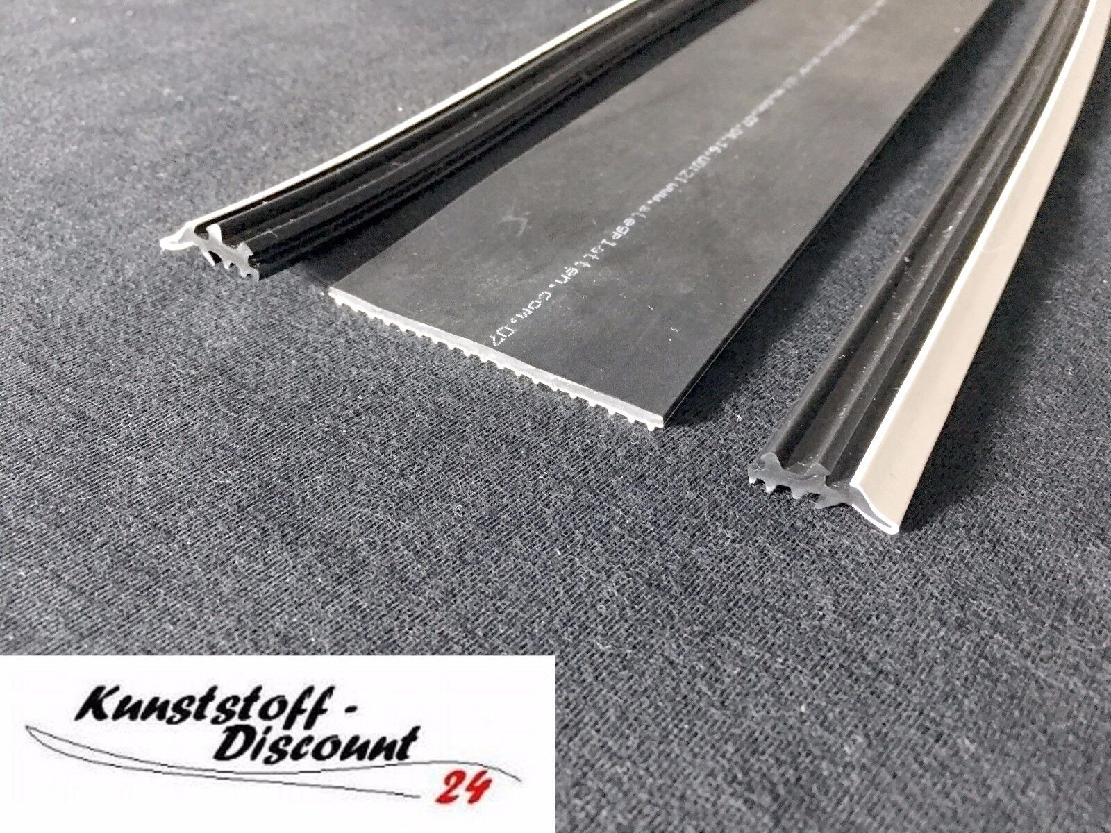 Stegplatte Verbindungsprofil Profile Mitte f/ür 16mm Stegplatten Alu//Gummi 2,5 Meter