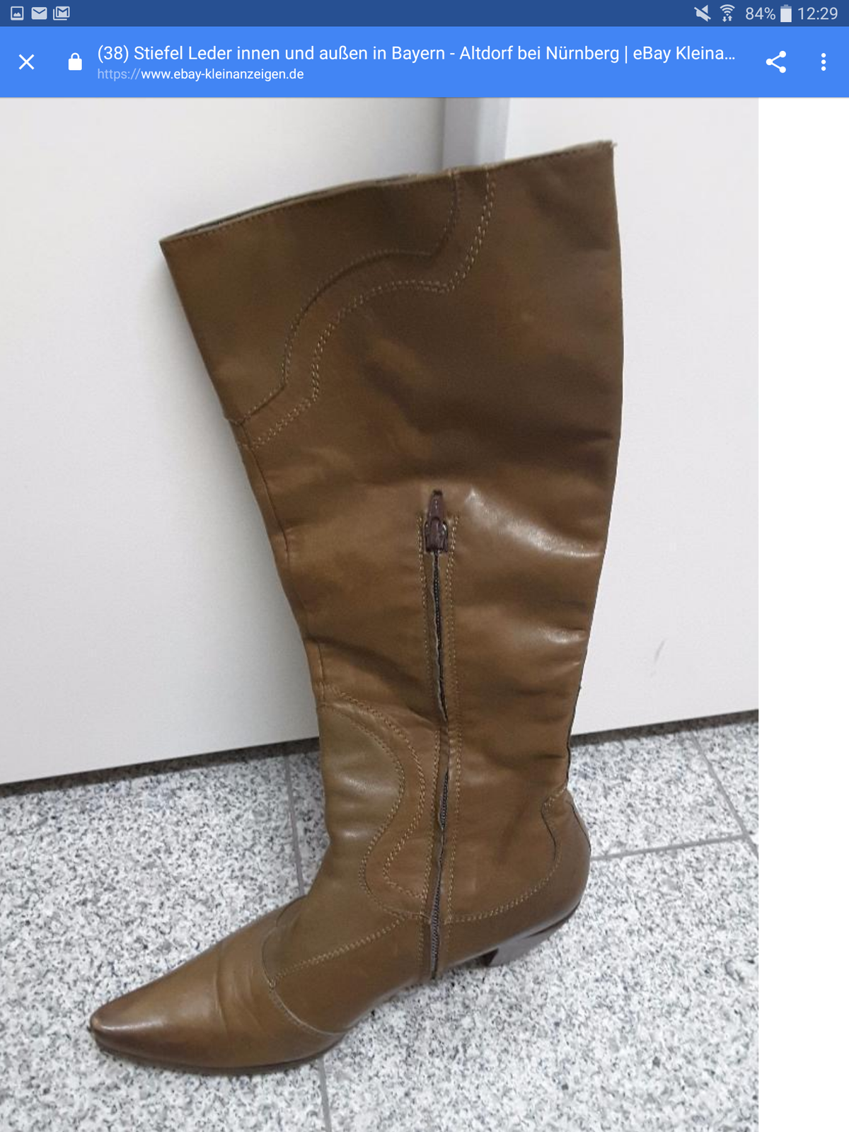 Stiefel Damen Gr.40 leder Günstige und gute Schuhe