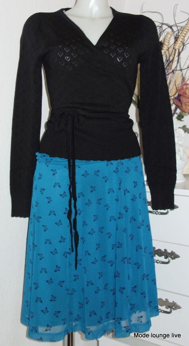 King louie kjol stor kjol Catarina färg olja blå fjärilar