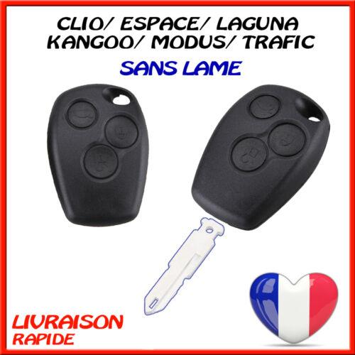 Boitier de Cle Telecommande Renault Kangoo Modus Trafic Laguna Espace 3 Boutons