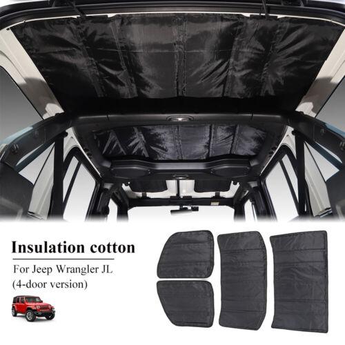 Headliner Roof Heat Insulation Sound Deadener Cotton For Jeep Wrangler JL 2018+
