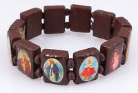 4030164 Brown Saints & Religious Icons Stretch Bracelet Wooden Wood Beads on Sale