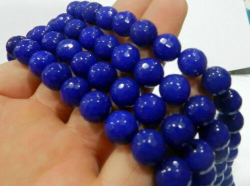 AAA 14mm Faceted Natural Blue Sapphire Gemstone Round Loose Beads 15/'/'