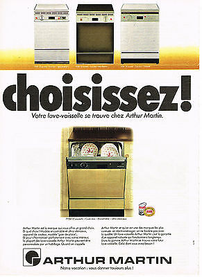 Publicite Advertising 044 1978 Arthur Martin Lave Vausselle Choisissez Other Breweriana Collectibles
