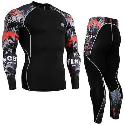 FIXGEAR CPD/P2L-B30 SET Compression Shirts & Pants Skin-tight MMA Training Gym