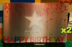 Details About Macys Lenticular HAPPY BIRTHDAY GIFT CARD X1 Collectible Card W Star No Value