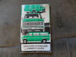 ford econoline owners manual original ebay