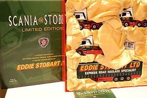 Corgi-1-50-Scatola-Scania-T-Cab-Topline-4-Serie-rimorchio-Eddie-Stobart