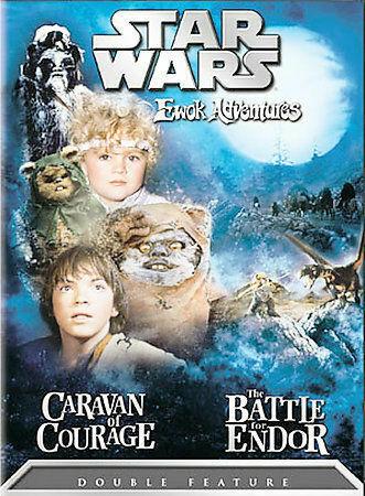 STAR WARS EWOK ADVENTURES: CARAVAN OF COURAGE / THE BATTLE FOR ENDOR (DVD, 2004)