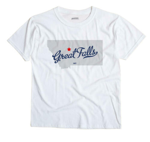 Great Falls Montana MT T-Shirt Souvenir MAP
