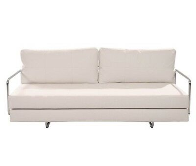 Futon Sofa Bed Sleeper Convertible Couch White Modern Furniture | eBay