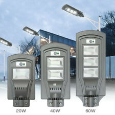 Maerex 40/60W LED Solar Powered Wall Street Light PIR Motion Outdoor Garden Lamp