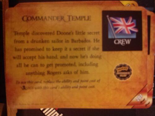 Pirates of the Barbary Coast #207 Commander Temple Pocketmodel MINT