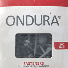 Ondura 3 Grey Roofing Nails Fasteners With Washers Box Of 100 Item 3209